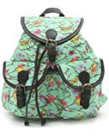 Owl / Butterfly / Polka Dot / Birds / Horse Design Print Canvas Backpack Fashion School Gym Day Bag with Double Front Pockets. Available in many styles and colours!