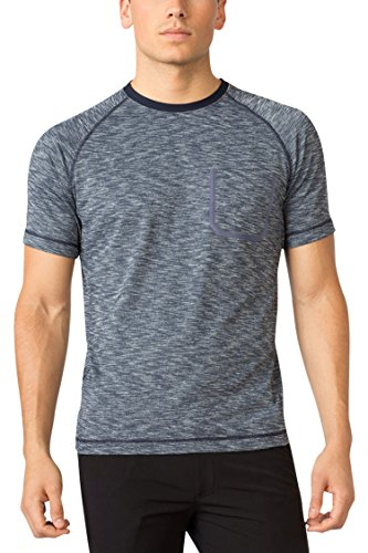 MPG Men's Ignite Space Dye T-shirt M Navy Charger Melange