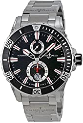 Ulysse Nardin Maxi Marine Diver Black Dial Stainless Steel Mens Watch 263-10-7M-92