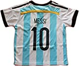 2014 ARGENTINA MESSI 10 HOME FOOTBALL SOCCER KIDS JERSEY