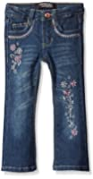 Freestyle Revolution Girls' Pink Floral Boot Cut Jean