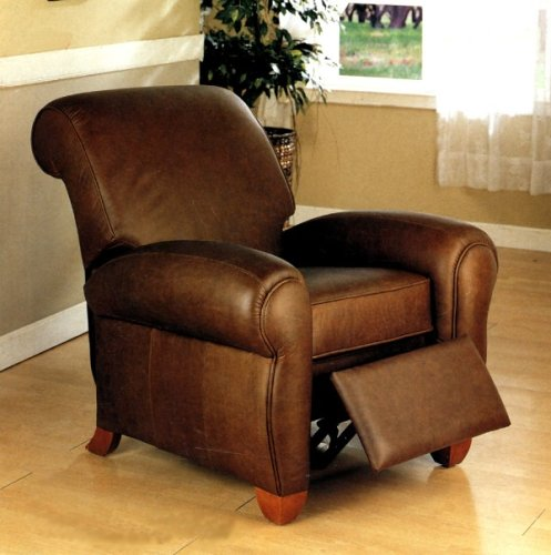 Club Chair Monterey Brown 100% Italian Leather Sofa Club Chair Recliner & Club Chair: Monterey Brown 100% Italian Leather Sofa Club Chair ... islam-shia.org