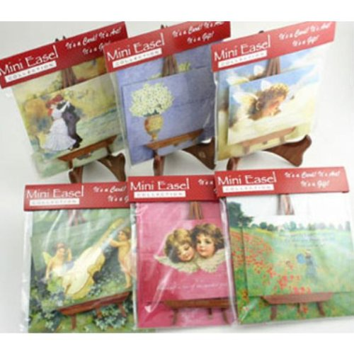 Mini Card With Easel Set - 12 Assorted (108 Pack)