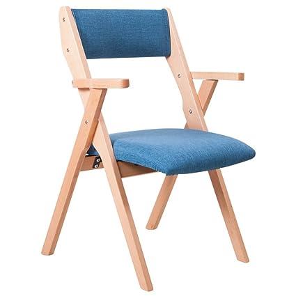 Silla plegable de madera / silla de respaldo / silla Relax / silla plegable multifunción (9 colores para elegir) ( Color : E )