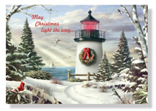 Lighthouse Themed Christmas Cards