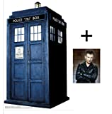 "*FAN PACK* - TARDIS - TABLETOP CARDBOARD CUTOUT / STANDEE / STANDUP (Height 80cm) - BBC Doctor Who / Dr Who / Dr. Who - INCLUDES 8x10"" (25x20cm) STAR PHOTO - FAN PACK #75"