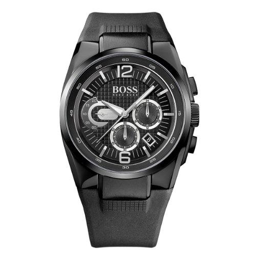 Hugo Boss 1512736 - Reloj cronógrafo de cuarzo para hombre, correa de silicona color negro (cronómetro)
