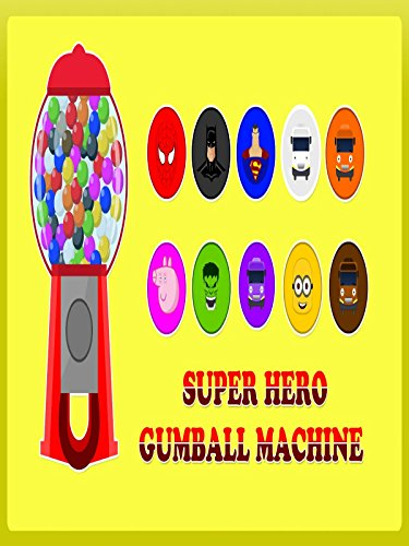 Gumball Machine for Children to Learn Colors - SuperHeroes Balls Surprise