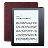 New – Kindle Oasis E-reader with Leather Charging Cover – Merlot, 6″ High-Resolution Display (300 ppi), Free 3G + Wi-Fi