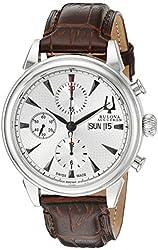 Bulova Men's 63C107 Gemini Analog Display Swiss Automatic Brown Watch