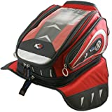 OL121 - Oxford X30 Lifetime Motorcycle Magnetic Tank Bag Red