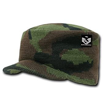 Rapiddominance Camo Flat Top Jeep Cap, Woodland