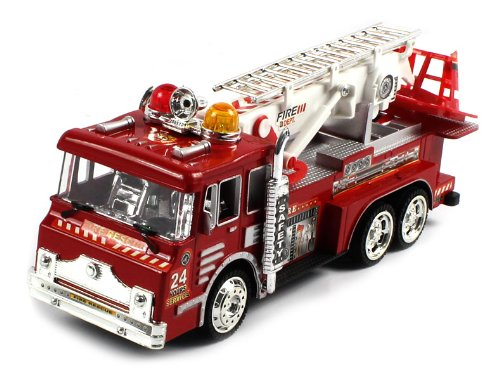 EXTREME DETAIL NICE FINISH Electric Single Function Fire Rescue Team RTR RC Truck w/ Adjustable Crane PERFECT GIFT!