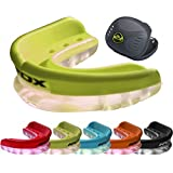 RDX Air Max Gum Shield & Case Mouth Guard Boxing MMA Junior Adult Rugby Box Mouthguard Kickboxing