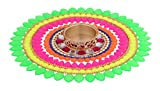 Itiha Neon Rangoli on OHP Transparent Sheet with T light holder (7 inches)