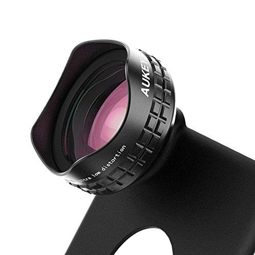 AUKEY 広角レンズ HD 110°0.7×ワイドレンズ クリップ式/iPhone 6sケース付属 Samsung Galaxy、Sony、Androidスマートフォン、タプレットなどにも対応 PL-WD03