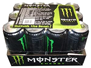 Monster Energy Drink, 16 Ounce Cans- (Pack of 12)