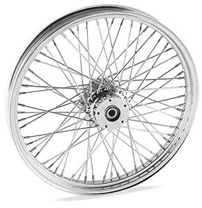 Bikers Choice 16 x 3.5in. Belt Driven Rear Wire Wheel - 80 Spoke , Color: Chrome, Position: Rear, Rim Size: 16 M16321536
