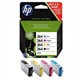 from HP HP 364 Print Cartridge Combo Pack - (1 x Black, Yellow, Cyan, Magenta) Model SD534EE