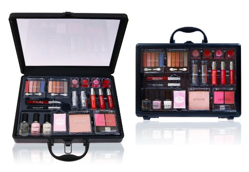 SHANY Cosmetics Holiday Makeup Case – Reusable Aluminum Carry All Train Case with Clear Top – Holiday Exclusive, Limited