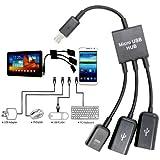 USB Dual OTG Host-Hub Kabel Adapter für Samsung Galaxy Note 10.1 2014 Edition