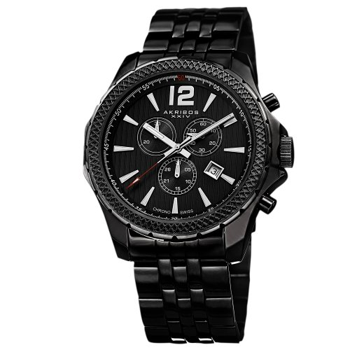 Akribos XXIV Black Mens Watch AK662BK