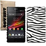 Sony Xperia Z Covert Branded Zebra PU Leather Back Cover Case / Shell / Shieldby Covert