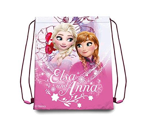 Disney Frozen-Frozen-Sacca per sacca per scarpe diversi motivi, Bambina, rosa