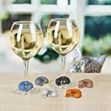 Fred & Friends WINE LIVES Kitty Drink Markers, Set of 6