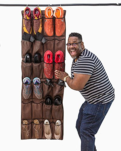 Over the Door Shoe Organizer for Large Shoes (Up to Mens Size 16): 24 Pocket Multi-purpose Hanging Shoe Organizer Helps Declutter Your Closet and Neaten Your Space. Get Organized Now! (Big Shoe Organizer compare prices)