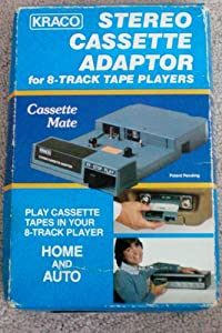 HTF--New Old Stock--Kraco Stereo Cassette Adaptor for 8-Track Tape Players