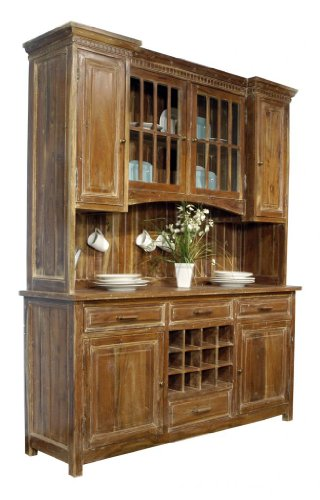 Buy Low Price Orient Express Sideboard w/ Hutch by Orient Express – Line Washed (6246.LWR) (6246.LWR)