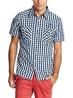 PAUL STRAGAS Camisa Hombre (Azul / Blanco)