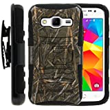 Samsung Galaxy Core Prime Case, Samsung Galaxy Core Prime Holster, Two Layer Hybrid Armor Hard Cover with Built...