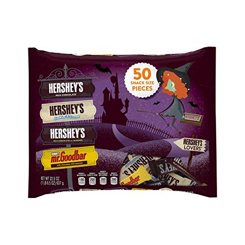 Hershey's Lovers' Halloween Snack Size Assortment, 50-Count Bag