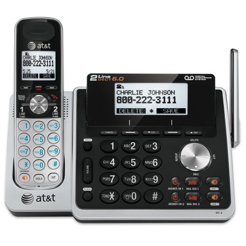 At&T Tl88102 Dect 6.0 2-Line Cordless Answering System