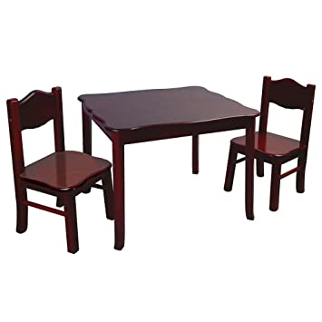 Guidecraft Classic Espresso Table & Chair