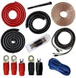 0 Gauge Amp Kit Amplifier Install Wiring Complete 0 Ga Installation Cables 4000W
