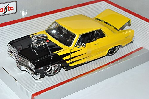chevrolet-malibu-ss-coupe-gelb-1965-tuning-1-24-maisto-modell-auto