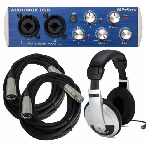 1 PRESONUS AudioBox USB 2x2 Interface Bundle