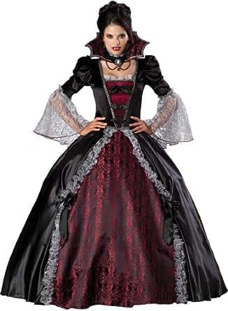 InCharacter Costumes Women's Vampiress Of Versailles Costume, Black/Burgundy, Small