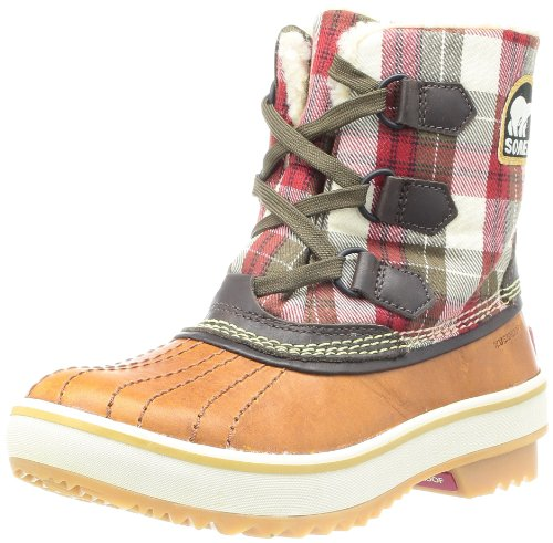 Sorel Women's Tivoli Plaid NL1653 Boot,Moccasin/Chili,5 M US