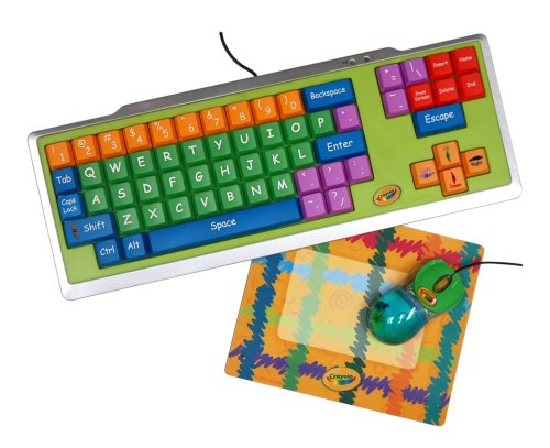 Crayola 3-Piece Computer Kit with Keyboard, Mouse &amp; Photo Mouse Pad (11103)