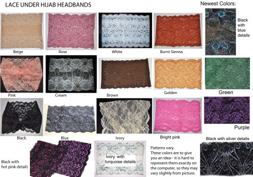 Lace Underscarf Random Color Assortment 5-pack