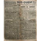 SUD OUEST [No 289] du 01/08/1945 - NOÇÖAYANT PU ETRE EXAMINE MARDI - LE PROBLEME CONSTITUTIONNEL FERA LOÇÖOBJET...