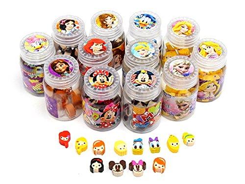 (ディズニー)Disney ディズニー オールスター ボトル 消しゴム 12種(各1ボトルずつ) 12ボトル セット