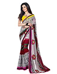 Triveni Lotus Inspired Motif Appliqued Fancy Saree 63008b