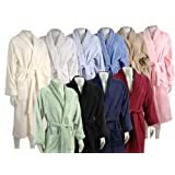 100% Egyptian Cotton Bath Robe - Large & Small - Blue - Small