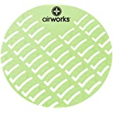 Hospeco Airworks AWUS002-BX Light Green Herbal Mint Urinal Screen (Pack of 10)