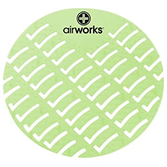 Hospeco Airworks AWUS002  Light Green Herbal Mint Urinal Screen (Pack of 60)